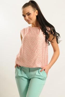 """Блуза """"Китти"""" розовый цветы"""
