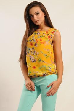 """Блуза """"Китти"""" желтый"""