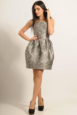 """Платье """"Роузи"""" серый"""