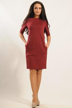 """Платье """"Ким"""" бордо"""