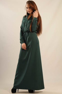 """Платье """"Ваниль-Макси"""" зеленый"""