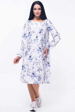 """Платье """"Шейла"""" синие цветы"""