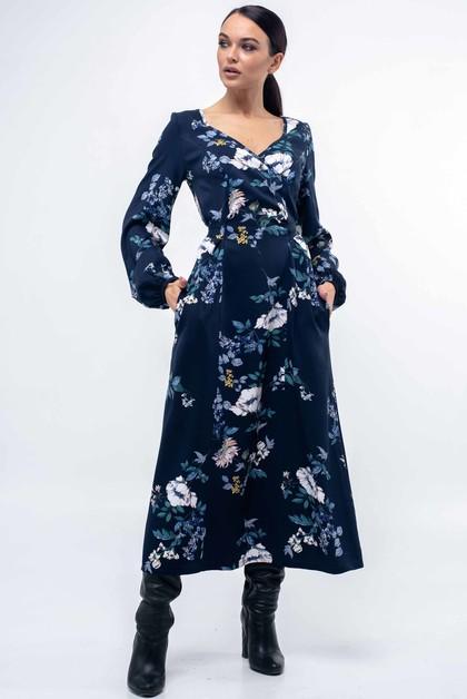 "Платье ""Луиза"" темно-синий"