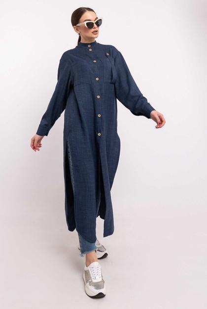 """Рубашка """"Шерити"""" темно-синий"""