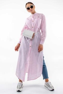"""Рубашка """"Шерити"""" розовый"""