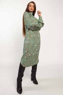 """Платье """"Амира"""" зеленый принт"""