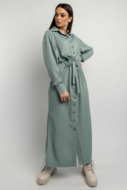 """Платье-рубашка """"Джади"""" оливка"""